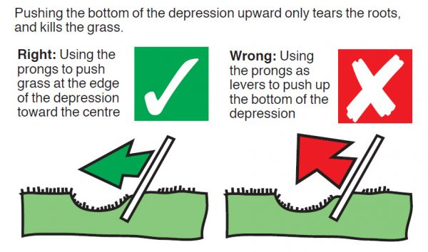 How to repair a divot or pitch mark correctly - Via the St Andrews blog