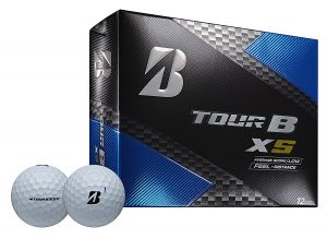 Tiger Woods uses Bridgestone Tour B XS golf balls