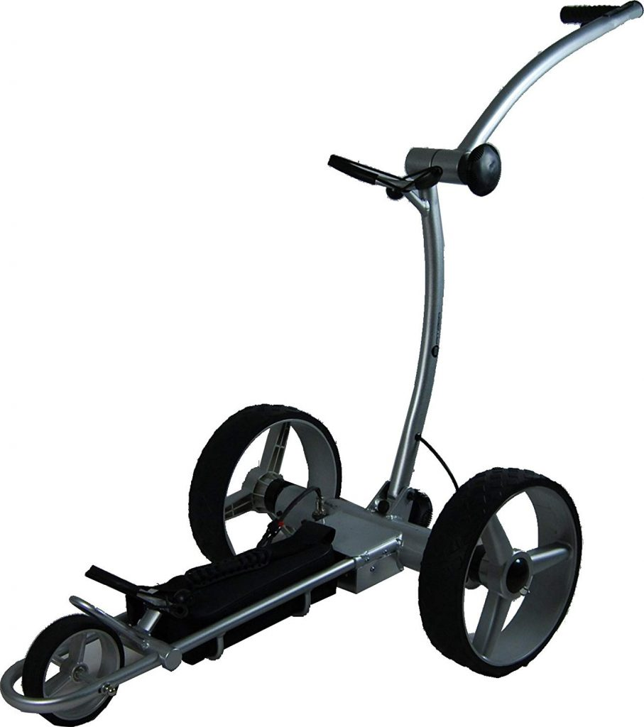 Our top rated electric trolley cart is The Spitzer EL100, a perfect golf cart for any budget